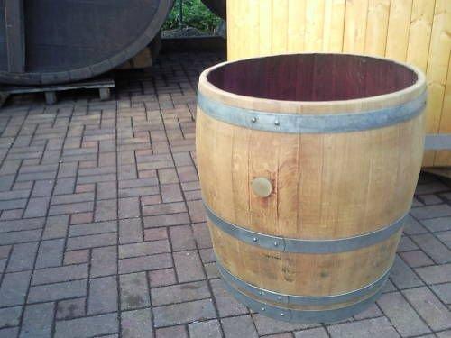 JUNIT 200L-Weinfass Regentonne aus gebrauchtem Barrique-Eichenfass