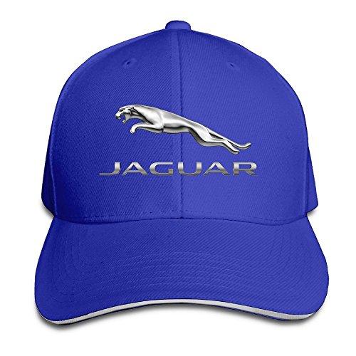 Huseki MKCOOK Unisex Jaguar Logo Adjustable Sandwich Peaked Baseball Caps Hats Royalblue