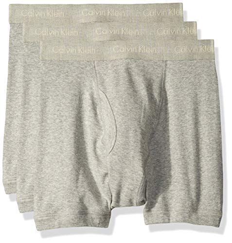 Calvin Klein Men's Underwear Cotton Classics Boxer Briefs - Medium - Heather Grey (Pack of 3)