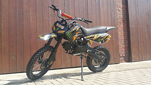 RV-RACING GT607S 125ccm Dirtbike Schwarz Pitbike Enduro Cross 4 Takt 4 Gang TOP!!