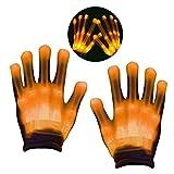 KITY 4-10 Jährige Jungen Mädchen Spielzeug,Led Handschuhe Kinder LED Leuchtende Finger-Handschuhe Spielzeug für Jungen ab 5-12 Jahre für Clubs,Disco,Festivals,Laufen, Radfahren, Sports(Gelb)