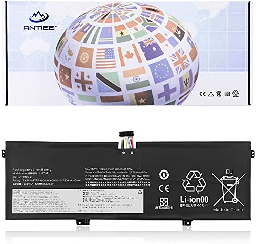 ANTIEE 60Wh L17C4PH1 L17M4PH1 Laptop Akku für Lenovo Yoga C930-13IKB Glass Yoga 7 Pro-13IKB C930-13IKB-81EQ C930-13IKB-81C4 81C4003UGE L17M4PH2 5B10Q82425 5B10Q82426 5B10Q82427 7.68V