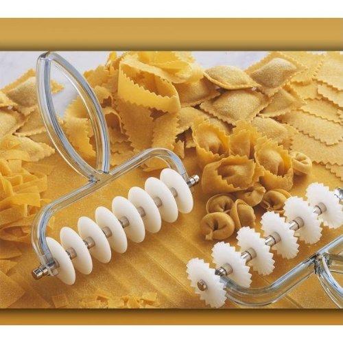 ZASEVES Taglierino per Pasta Fresca, Argentato, Confezione da 80