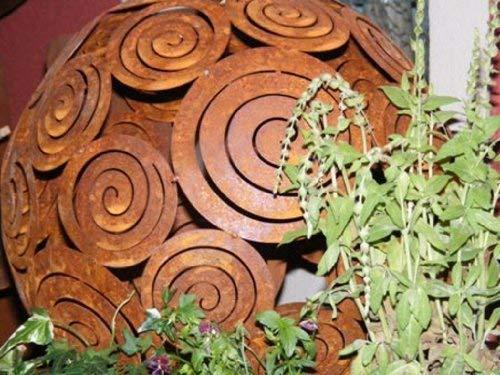 Rouille Noble Boule de Décoration Filigranne, Décoration de Jardin