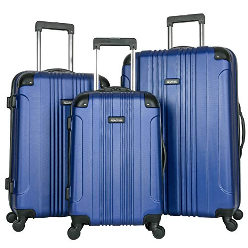 "Kenneth Cole Reaction Out Of Bounds 3-Piece Lightweight Hardside 4-Wheel Spinner Luggage Set: 20"" Carry-On, 24"", & 28"""
