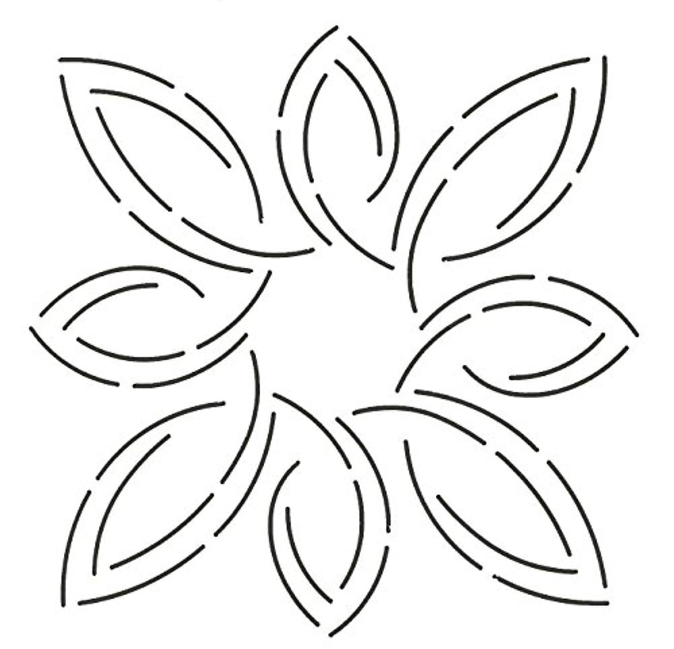 Quilting Creations Pear Leaf Medallion Stencil, 7