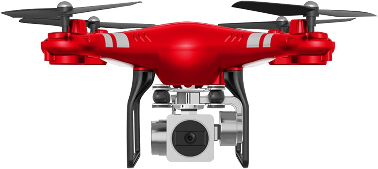 Springdoit Quadcopter Fixed Height WiFi Camera 2.4GHz 4axis Set Height Drone + Mobile Phone Clip + Wide Angle + ESC   red