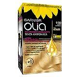 Garnier, Colorazione permanente Olia, Senza ammoniaca, Con oli di fiori di origine naturale, Biondo Caramello (9.30)