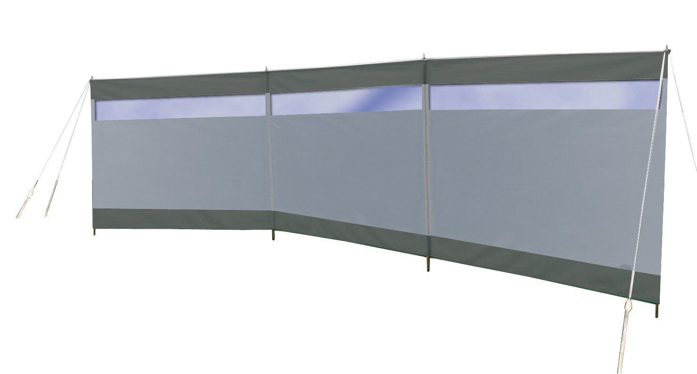 Bo-Camp - Tela Cortavientos con Ventana, Gris, 500 x 140 cm: Amazon.es: Coche y moto