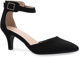Women's Heel Pumps Ladies Closed Pointed Toe Ankle Strap Dress Stiletto Pump Shoes
