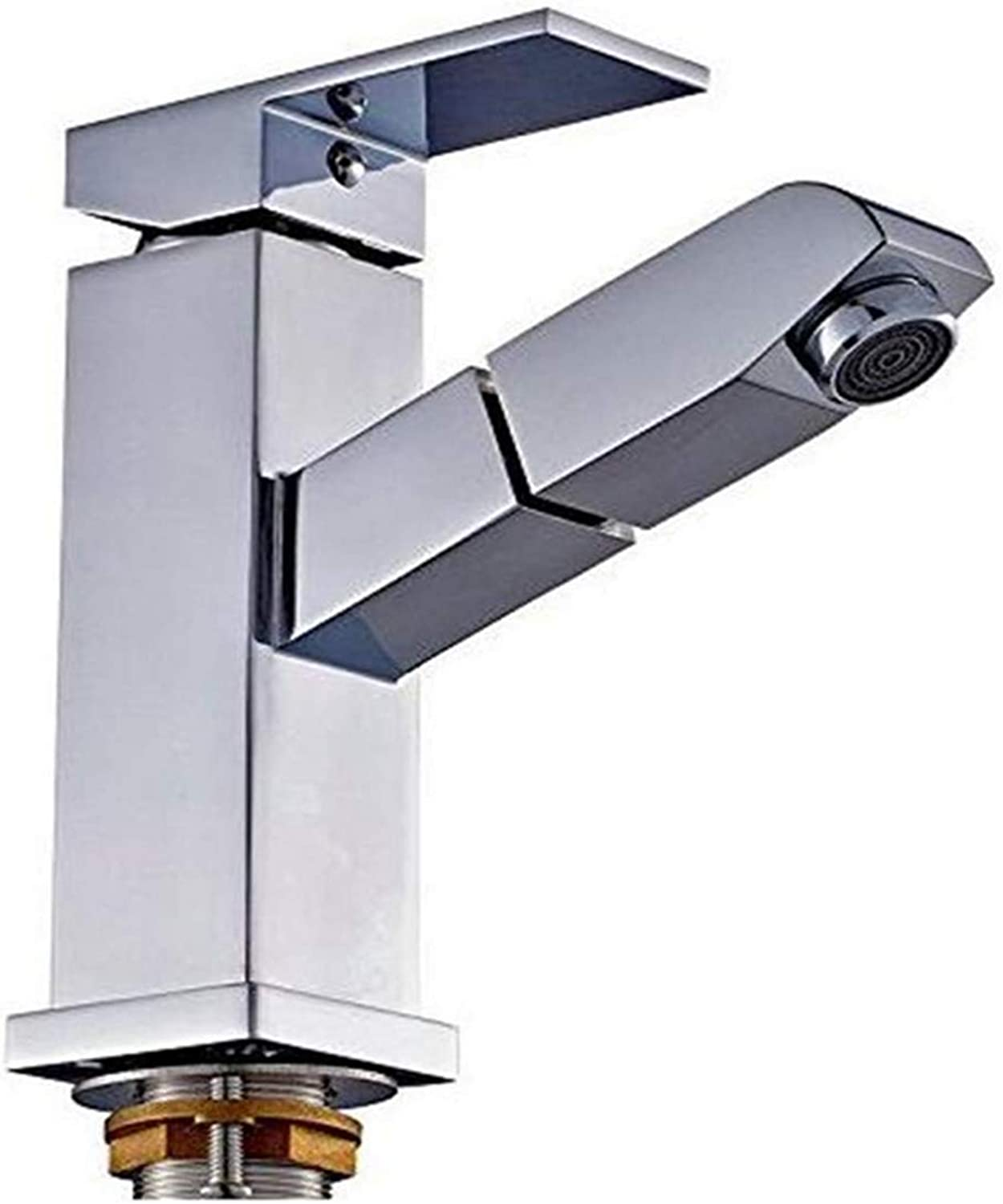 Miscelatore Cucina Antique Solid Brass Basin Mixer Tap Kitchen Sink Mixer Tap Hot and Cold Water Pull-Out Spout Head Sink Faucet