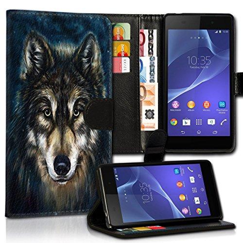 wicostar Wallet Book Style Flip Handy Tasche Hülle Schutz Hülle Schale Motiv Etui für Sony Xperia Z5 - Variante UMV33 Design12