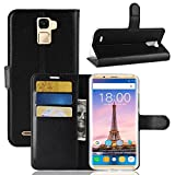 Oukitel K5000 case, Simple Wallet Cover GOGME, Premium PU Leather Flip Handset Shell With stand and card slots. black
