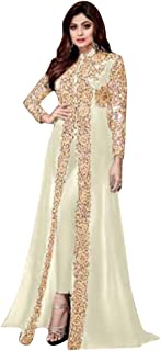 ETHNIC EMPORIUM Shamita Bollywood Party Wear Long Pakistani Kaftan Style Salwar Kameez Muslim Eid Womens 651