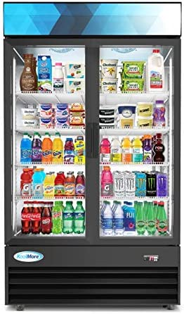 KoolMore MDR 2GD 35C 45 Commercial Glass 2 Door Display Refrigerator Merchandiser Upright Beverage product image
