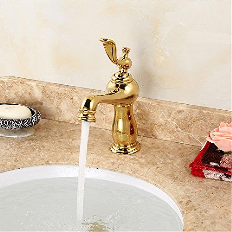 Küchenarmatur Waschtischarmatur Wasserfall Wasserhahn Bad Mischbatterie Badarmatur Waschbecken Badezimmer Antiker Beckenaufzughahn Retro- Beckenhahnhaus einfach angeschlossener schnell ffnender Hahn