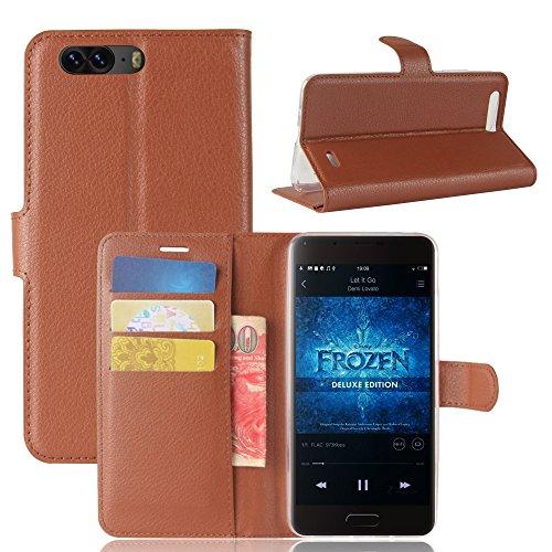 Litao-Case CN Hülle für Blackview P6 hülle Flip Leder + TPU Silikon Fixierh Schutzhülle Case 3