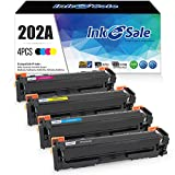 Ink E-Sale Toner Cartridge Replacement for HP 202A CF500A CF501A CF502A CF503A Toner Cartridge Black Cyan Magenta Yollow Color Set for use with HP 202A 202X M254 MFP M281 MFP M280 Printer