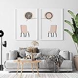 Consejero de terapia Arte de la pared Impresiones digitales Pintura en lienzo Carteles e impresiones nórdicos Imágenes de pared Póster de psicólogo 40x60cm-2 piezas sin marco