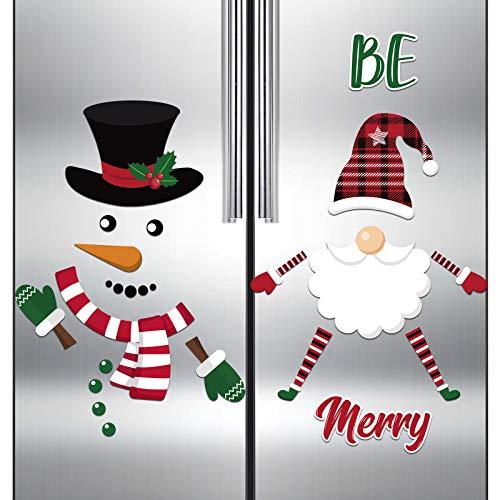 11 Magneti di Gnomi Natalizi e 16 Magneti da Frigorifero di Pupazzo Neve Adesivi Magnetici di Gnomi Natalizi di Scandinavia per Natale Capodanno, Porte di Metallo, Armadietti, Decorazioni