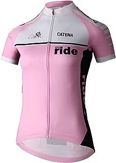 CATENA Women's Cycling Jersey Short Sleeve Shirt Running Top Moisture Wicking Workout Sports T-Shirt