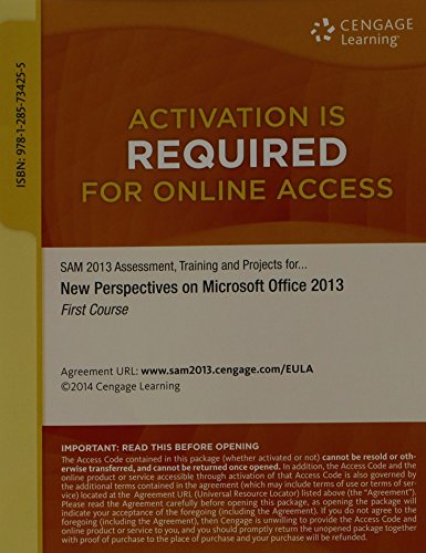 SAM 2013 Assessment, Training, and Projects with MindTap Reader, 1 term (6 months) Printed Access Card for Shaffer/Carey