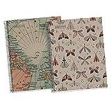 Miquelrius Pack 2 Cuadernos 100% Reciclado tamaño A4 con cuadrícula 5mm - Hojas 80gr, microperforadas, margen - 4 taladros...