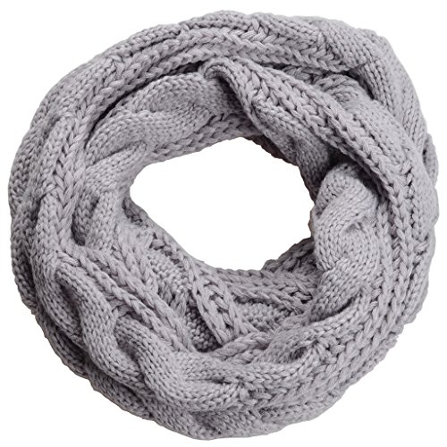 NEOSAN Thick-Ribbed Knit Winter Infinty Scarf