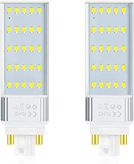 Luxvista LED GX24Q/G24Q 4-Pin Base Light Bulb - 13W CFL Replacement GX24Q Rotable PL Retrofit Light LED Horizontal Recessed Bulb for Pendant Lamps Warm White 3000K (2-Pack, Remove/Bypass Ballast)