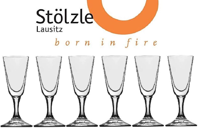 St?lzle Lausitz Crystal Cordial Liquor Shot Glasses, 1 Ounce, 4  Tall, Set of 6