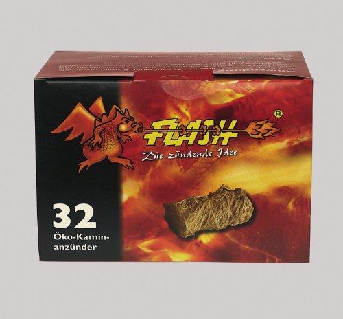 Grillanzünder / Kamin Anzünder / Öko Anzündwolle PROFI 32 Stück