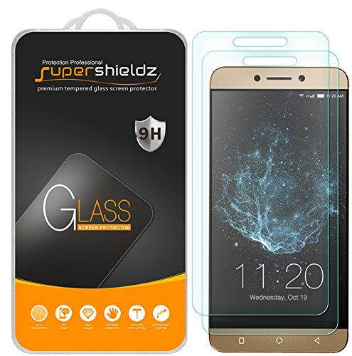 (2 Pack) Supershieldz for LeEco Le S3 Tempered Glass Screen Protector, Anti Scratch, Bubble Free