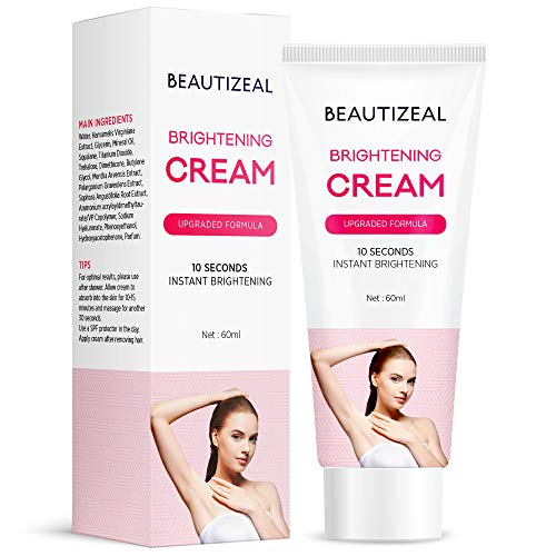Beautizeal Brightening Cream, Underarm Lightening Cream, One for All, Brightens and Moisturizes Armpit, Neck, Back, Legs, Elbows and more (2oz) (60ml)