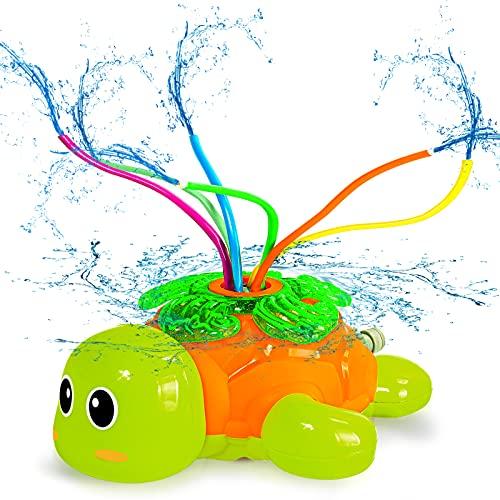 Juguete de Rociador Juguete de Agua para Niños Tortuga Jardín de Verano Juguete con 6 tubos Juguete de jardín de Agua Rociador para Actividades Familiares Aire Libre Jardín Patio Trasero Playa
