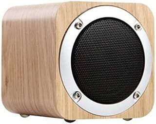 MYQXAZ MX05 Wooden Speaker, Multimedia Audio Speaker, Computer Speaker - Brown (Color : Beige)