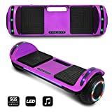CHO POWER SPORTS 2020 Electric Hoverboard UL Certified Hover Board Electric Scooter with Built in Speaker Smart Self Balancing Wheels (Purple)