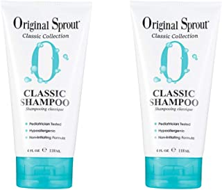 Original Sprout Classic Shampoo. Sulfate Free Shampoo for Classic Hair Care. 4 Ounces. 2 Pack. (Packaging May Vary)