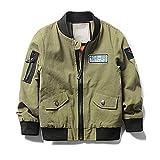 LJYH Boy's Spring Thin Jacket Baseball Clothing Jacket Army Green