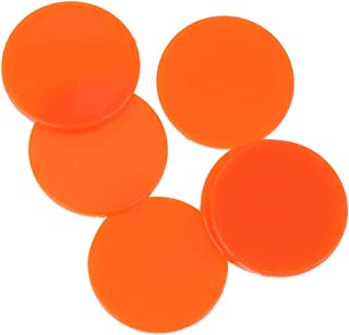 SUPVOX 100Pcs Bingo Chips Counting Round Pieces Plastic Colorful Slices Marker Game Accessories for Home Bar(Orange)