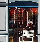 yaofale Nuez moscada Pegatinas de Pared Navidad Feliz Navidad Flor Vinilo Sala de Estar Dormitorio Decoración para el hogar DIY Etiqueta de la Pared 57x80cm