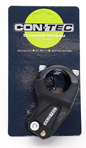 Contec TDS-D408-8(FOV) Dirt XC Potence avant Downhill/Freeride en aluminium 6061 Orientable à 30° Avec 4 vis Noir sablé 1 1/8 Longueur 40 mm Collier 31,8 mm