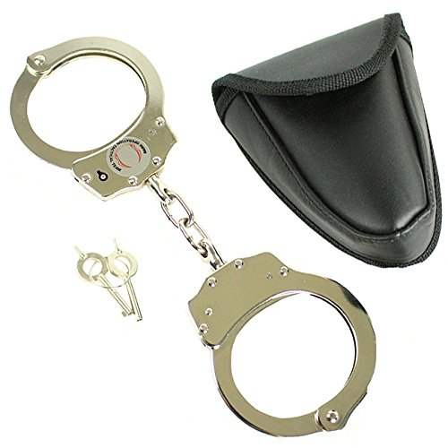 El Hueso borde Tacticle equipo bolsa de estilo de policía esposas inoxidable...