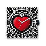 S.T.A.M.P.S. Stamps Montre–cadran Red Heart complet avec bracelet en cuir Classic Rouge