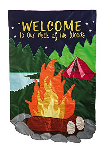 Welcome To Our Neck Of The Woods Garden Flag