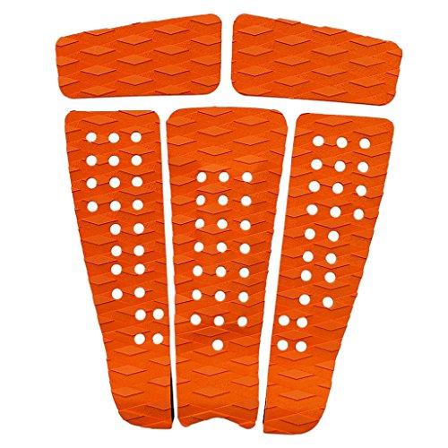 Homyl 5Piezas de Tablas de Surf tapetto Pad Deck Grip Antideslizante Eva, Naranja