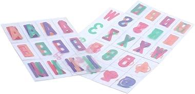 Hinleise Lot de lettres et symboles pour boîte lumineuse de cinéma A4 (104 lettres et symboles)