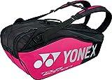 ヨネックス(YONEX) テニス バッグ ラケットバッグ6 (リュック付き・テニスラケット6本用) BAG1802R ブラック×ピンク(181)