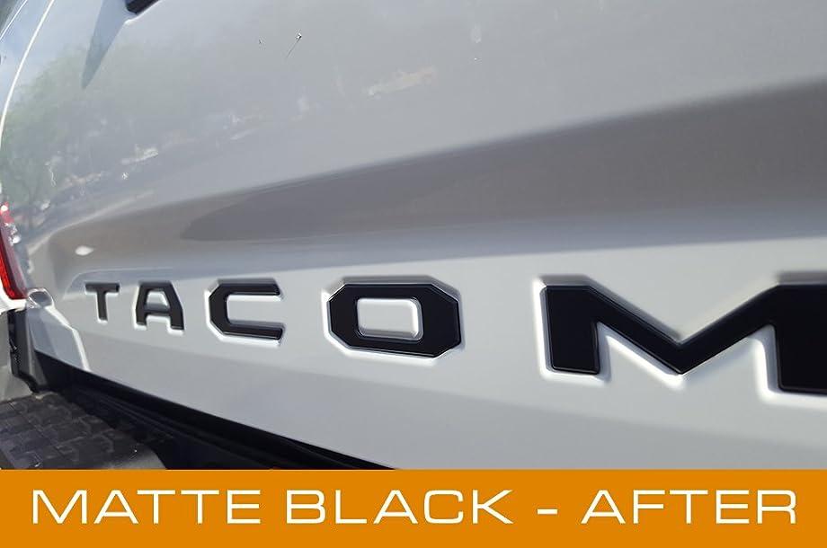 EyeCatcher Tailgate Insert Letters for 2016-2019 Toyota Tacoma (Black Matte)