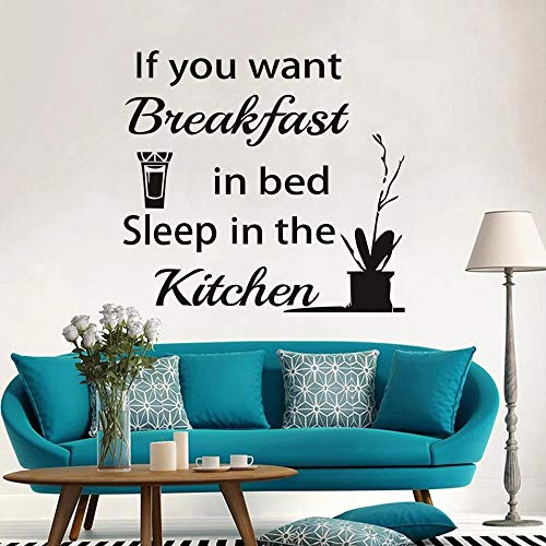 Pegatinas de pared de cocina pegatinas de pared de vinilo para dormir de cocina pegatinas de pared de jugo de naranja pegatinas de letras inspiradoras pared del hogar