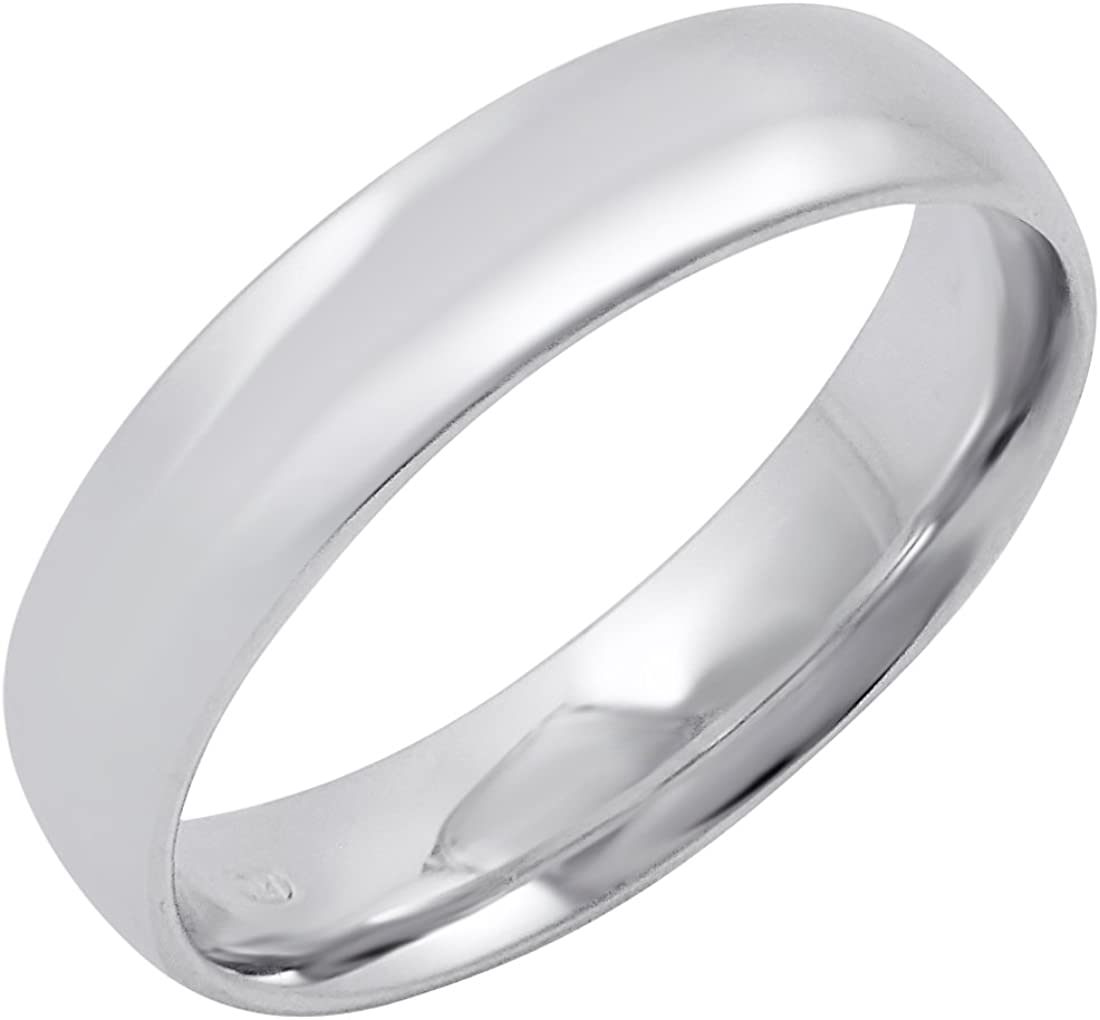 Men's NEW 10K Yellow Gold 5mm Solid Wedding Fit Comfort Band Plain Max 69% OFF